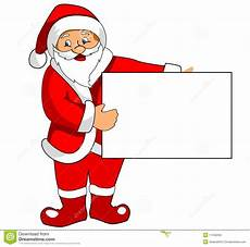 santa claus with blank paper stock vector illustration