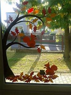 Herbst Basteln Fenster - 20 decorating ideas are right for window in the rainy
