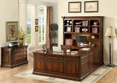 oak home office furniture lavinia dark oak home office set from furniture of america