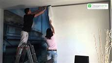 toile tendue murale image verte d 233 coration murale mur tendu tour de