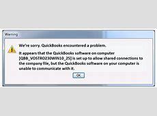 quickbooks error code company file not found