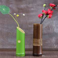 bambou en vase wholesale handmade japanese bamboo flower vase for home