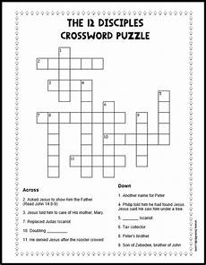 12 disciples worksheet the 12 disciples crossword puzzle free bible activities for kids bible quiz bible for kids