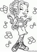 Coloring Page  The Girl Sings