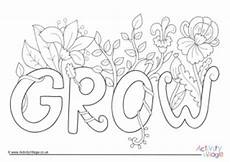 growing plants free colouring pages