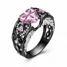 vancaro wing collection black and pink engagement ring for latest jewelry trends