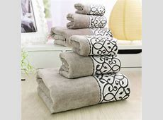3pcs Decorative Luxury Cotton Bath Towels Sets for Adults