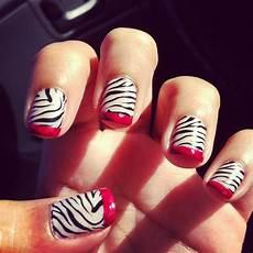 nail art glamorously done retro zebra nail art