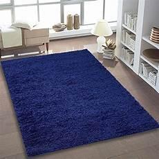 teppich shaggy hochflor einfarbig wohnzimmer blau quadrat