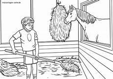 Ausmalbilder Hasen Im Stall Malvorlage Stall Ausmisten Bauernhof Tiere