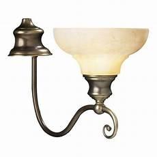 elegant wall light marbled glass shade antiqued brass scroll work