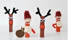 weihnachtsbasteln diy elch und weihnachtsmann mit - Wäscheklammern Basteln Weihnachten