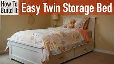 how to build an easy bed with storage