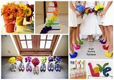 events by tammy 2013 wedding trend 1 rainbow theme