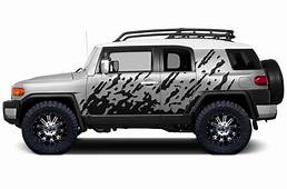 Product Toyota FJ Cruiser 2007 2014 MUD SPLASH Side Decal