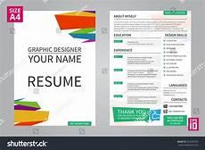 vector minimalist cv resume template graphic stock vector 324639593 shutterstock