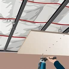 Comment Faire Un Plafond Suspendu R 233 Ussir La Pose D Un Plafond Suspendu