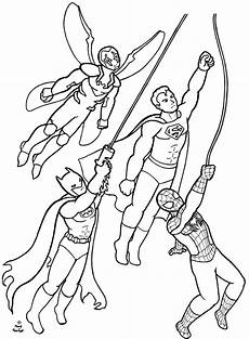 superheroes coloring page commission by firefiriel