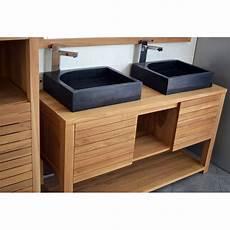 meuble sous vasque en teck 140 cm mrc002 140