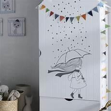 stickers muraux chambre fille stickers muraux chambre enfant la fille sous la pluie