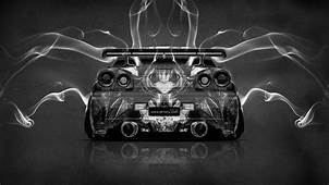 Nissan Skyline GTR R34 Anime Aerography Smoke Car 2014