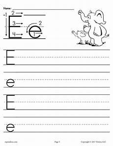 letter e worksheets 24106 free printable letter e handwriting worksheet supplyme