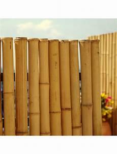 Cloture Bambou Jardin Palissade En Bambou Naturel