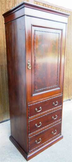 schmaler kleiderschrank schmaler englischer kleiderschrank mahagoni um 1890 1900