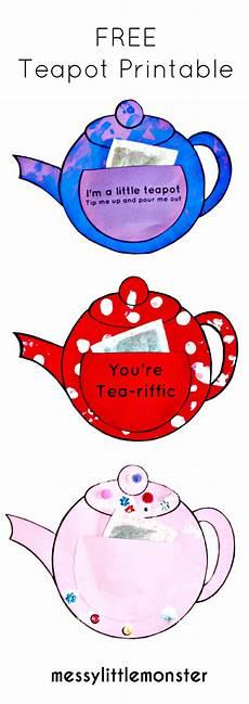 s day printable teapot 20609 you re tea riffic teapot craft free printable teapot template