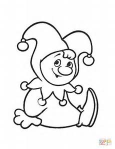 clown coloring page free printable coloring pages