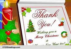 thank you merry christmas free thank you ecards greeting cards 123 greetings
