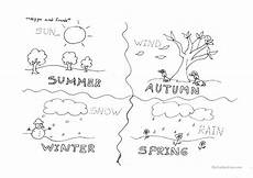 4 seasons printable worksheets 14847 four seasons esl worksheets for distance learning and physical classrooms