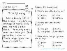 spring reading comprehension passages first grade by eisenhuth