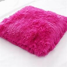kissen pink zottel kissen dekokissen pl 252 schkissen 50x50cm pink ebay