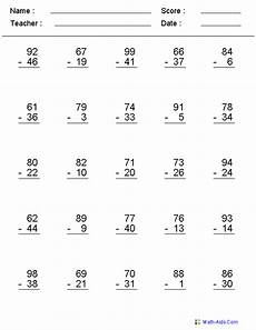 free printable math worksheets for grade 3 subtraction 16 best images of math worksheets 3rd free printable