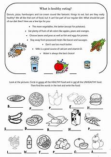 what is healthy eating english esl worksheets for distance learning and physical classrooms