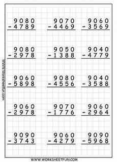 subtraction worksheets with grid lines 10162 worksheets graph paper and middle on