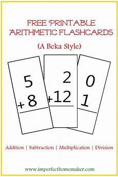 basic math facts flash cards printable 10796 free printable arithmetic flashcards imperfect homemaker