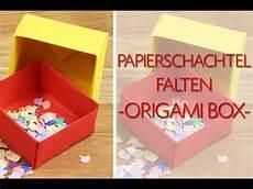 schachtel falten anleitung papierschachtel falten origami schachtel anleitung