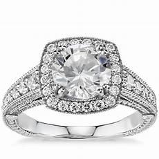 blue nile studio asscher cut royal halo diamond engagement