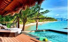 tropical resort wide desktop background