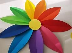 Papierblumen Basteln Blumen Wanddeko Basteln Mit Kindern