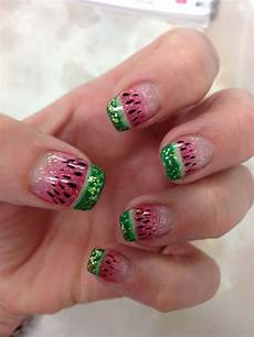 watermelon nail art gel nail art by ruth pinterest