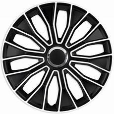 Radzierblenden 16 Zoll Schwarz - 4er set radkappen radzierblenden voltec pro black white 16