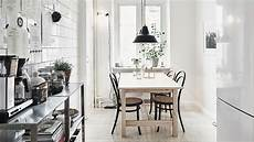 une d 233 co scandinave avec des murs de brique interior design kitchen dining room design cozy