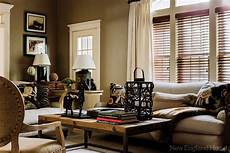 living room soft neutral paint fabric colors blinds diffuse light low coffee table