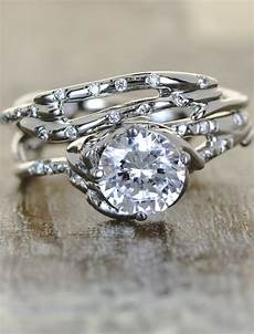 daya sculptural diamond engagement ring ken design