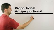 Proportional Antiproportional Tabelle Graph
