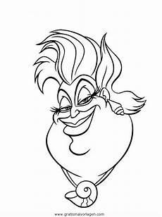 ursula sirenetta gratis malvorlage in comic