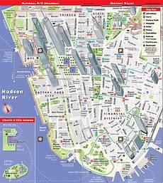 Stadtplan New York - map of manhattan new york city and travel information